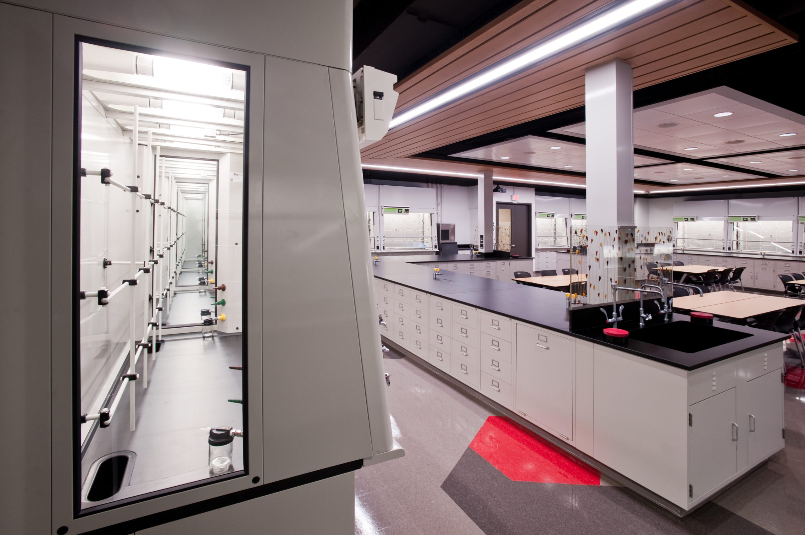 Integrating Ducted & Filtered Ductless Fume Hoods = Total Lab Efficiency & Safety